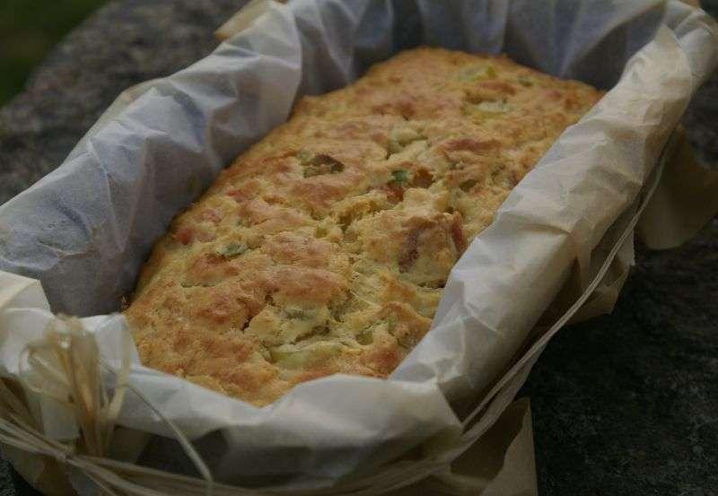 Cake aux poireaux et saumon